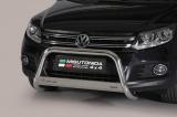 Nerezový přední ochranný rám Volkswagen Tiguan FL, 63mm