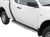 Boční nerezové nášlapy Mitsubishi L200 IV FL, Club Cab