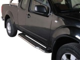 Boční nerezové nášlapy Nissan Navara II, King Cab