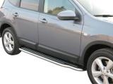 Boční nerezové nášlapy Nissan Qashqai +2