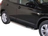 Boční nerezové nášlapy Nissan Qashqai FL