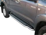 Boční nerezové nášlapy Toyota Hilux VII, Extra Cab