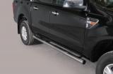 Nerez boční nášlapy se stupátky Ford Ranger II double cab