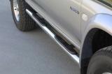 Nerez boční nášlapy se stupátky Mitsubishi L200 Double Cab I