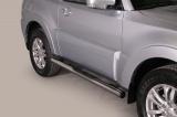 Nerez boční nášlapy se stupátky Mitsubishi Pajero II 3dvéřové