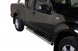 Nerez boční nášlapy se stupátky Nissan Pick Up Navara King Cab