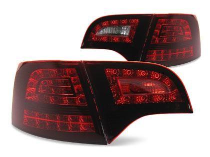 JOM Zadní LED světla Audi A4 Avant B7, tmavě červená