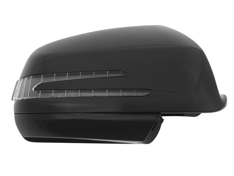 Kryty zrcátek LED blikač Mercedes C Class W204, černé