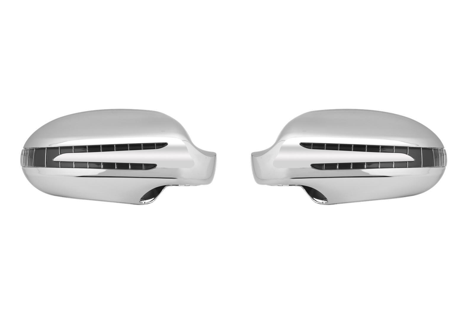Maronad Kryty zrcátek LED blikač Mercedes CLK W209 / SL R230, chrom