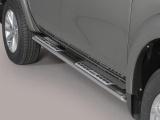 Nerez boční designové nášlapy Mitsubishi L200 V double/extra cab