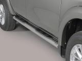 Nerez boční nášlapy se stupátky Mitsubishi L200 V Double/Extra cab