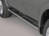 Nerez boční oválné nášlapy Mitsubishi L200 V double/extracab