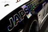 Samolepa Japspeed - chrom na černé - 250mm