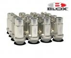 Kolové racingové matice (štefty) Blox závit M12 x 1.5 - stříbrné