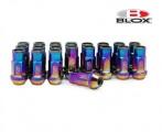 Kolové racingové matice (štefty) Blox závit M12 x 1.5 - titan look (neo chrome)