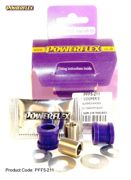 Silentbloky Powerflex BMW Mini One / Cooper R50/R52/R53 Super Charger Belt Damper Bushes (12)