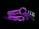 Přední a zadní odtahový hák (odtahové oko) Benen style - fialový