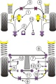 Silentbloky Powerflex Subaru Impreza WRX/STi GC/GF (93-00) Rear Anti Roll Bar To Chassis Bush 18mm (9)