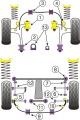 Silentbloky Powerflex Subaru Impreza WRX/STi GC/GF (93-00) Front Arm Rear Bush Caster Adjust (2)