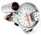 Přídavný budík Type-R - tachometr (125mm) se shift lightem - bílý/stříbrný