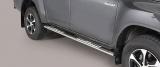 Nerez boční designové nášlapy Toyota Hilux VIII doublecab