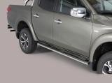 Nerez boční oválné nášlapy Fiat Fullback doublecab