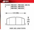 Brzdové destičky přední Hawk Toyota Starlet 1.3 Turbo EP82 (90-95)/EP91 (95-99)