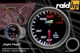 Přídavný budík Raid Night Flight - teplota oleje