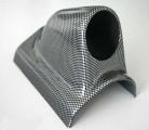 Držák na A-sloupek pro 1 přídavný budík - karbon look