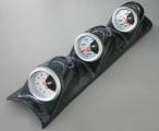 Držák na A-sloupek pro 3 přídavné budíky - karbon look