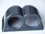 Držák na palubovku pro 2 přídavné budíky - karbon look