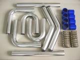 Univerzální set hadic a trubek pro intercooler -  50mm - modrý
