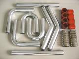 Univerzální set hadic a trubek pro intercooler -  50mm - červený