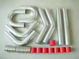 Univerzální set hadic a trubek pro intercooler -  76mm - červený