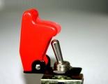 Vypínač kill switch červený průhledný s modrou LED diodou