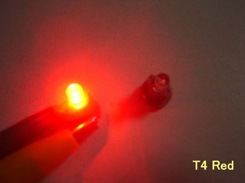 LED palubní deska Neo Wedge T4 červená Noname