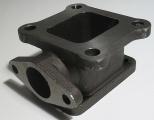 Redukční adaptér na turbo Toyota MR2 (CT26) > T3 + wastegate 35/38mm (litina)