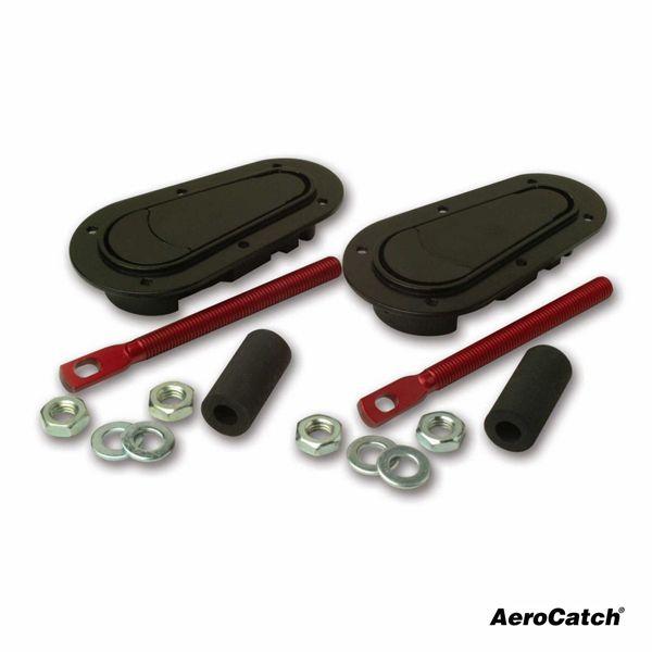 Zámky / držáky kapoty Aerocatch (spodní uchycení) - černé