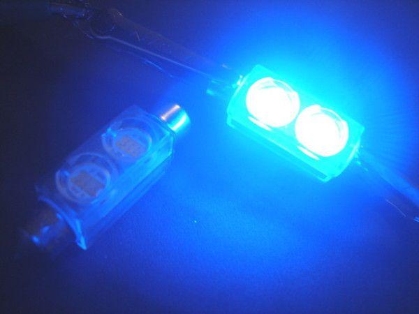 Sufitová žárovka 211 / 212 2W SMD 42mm jiskřivě modrá