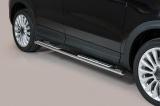Nerez boční designové nášlapy Fiat 500 X