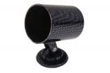 Držák univerzální pro 1 přídavný budík 52mm - karbon look
