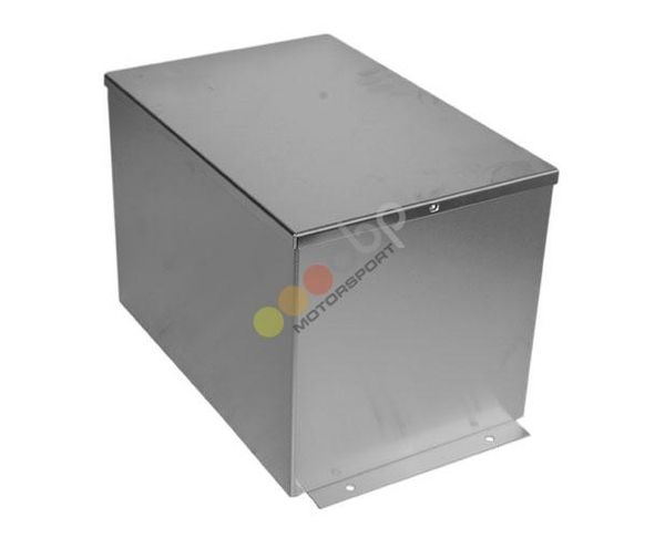 Kryt autobaterie OBP univerzální 305 x 200 x 205mm - leštěný hliník