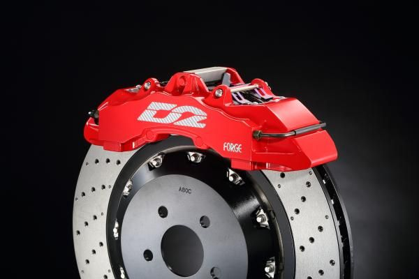 Přední brzdový kit D2 Racing pro Alfa Romeo 147 mimo GTA (00-10), 8-pístkové brzdiče, plovoucí kotouče 421x36mm