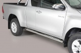 Nerez boční designové nášlapy Toyota Hilux VIII extra cab