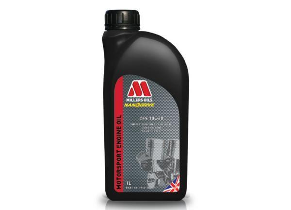 Závodní motorový olej Millers Oils Motorsport CFS 10w60 novinka 2017 - 1l - plně syntetický motorový olej, triesterová technologie