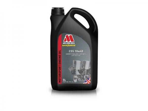 Závodní motorový olej Millers Oils Motorsport CSS 10w40 novinka 2017 - 5l - polosyntetický motorový olej
