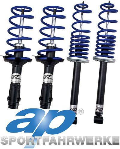 AP Sportfahrwerke Pevný podvozek ap Sportfahrwerke pro Audi 80 B4, Sedan, s poh. př. kol, mimo Diesel, 2.3/1.9TDi/1.9TDi 5-vál. i 6-vál. (09/91-), snížení 40/30mm