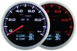 Přídavný budík Depo Racing WA 4in1 - tlak oleje, voltmetr, teplota oleje, teplota vody