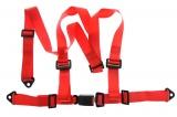 Bezpečnostní pás Pro Sport 3-bodový červený - 50mm