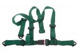 Bezpečnostní pás Pro Sport 3-bodový zelený - 50mm